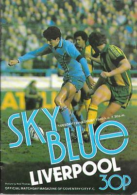 COVENTRY CITY  v.  LIVERPOOL.   Division One.   1980/81