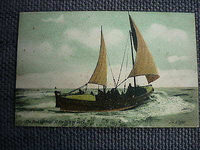 Early Picture Postcard Of The Deal Lifeboat At The Call Of Duty Card No 1981