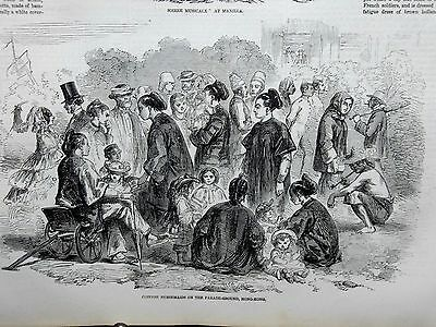 1857-ILLUSTRATED LONDON NEWS- Mutiny India Persian Gulf Bushire Hong Kong China