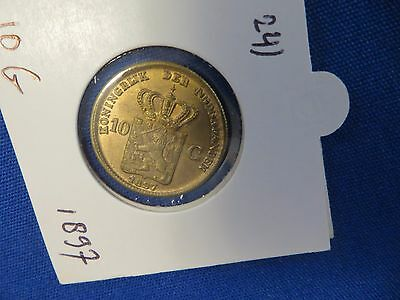 1897 Netherlands Metal Gold Unknown Type Coin