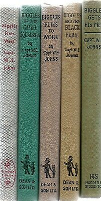 Five Biggles Books By Capt W E Johns.