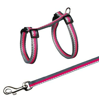 Trixie Patterened Nylon Cat Harness + Lead Assorted Colours 41862