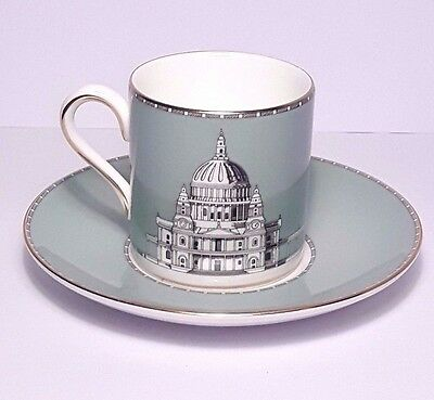 Wedgwood Bone China Grand Tour Coffee Can & Saucer - St Paul's Cathedral