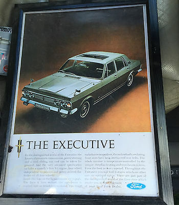 FORD ZODIAC Mk4 Executive - Framed advertising poster