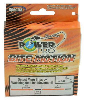 Power Pro Bite Motion Braid 150 metres Orange/Black