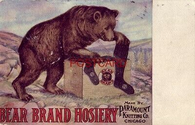 1908 Bear Brand Hosiery, Made By Paramount Knitting Co., Chicago