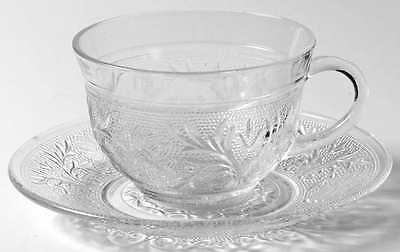 Anchor Hocking SANDWICH CLEAR Cup & Saucer 6505