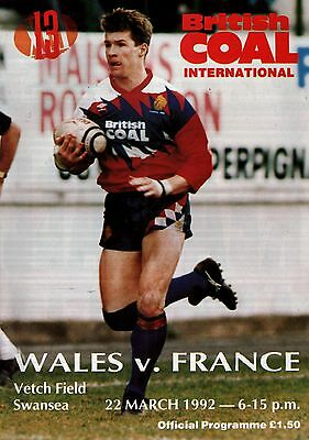 91/92 Wales v France, Rugby League at Vetch Field Swansea, PERFECT