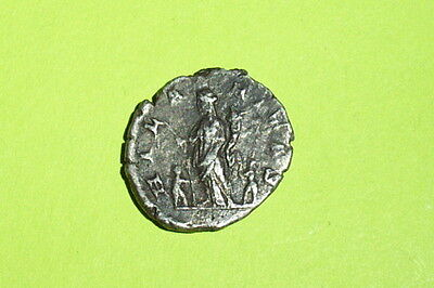 Ancient ROMAN SILVER COIN children JULIA DOMNA cheerful joy palm denarius child