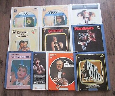 *10 Lot Video Disc Movies RCA Selectavision & Capacitance #10