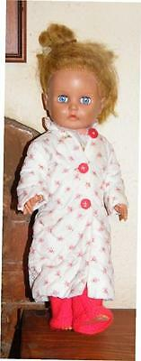 Nice 14 inch doll in pyjamas and dressing gown