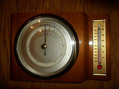 Short & Mason Of London Barometer & Thermometer Shelf Or Wall Mount