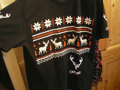 Carling Lager  Xmas T-Shirt Size Large