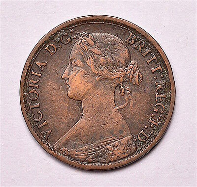 Victoria 1872 Farthing  ®155-A14