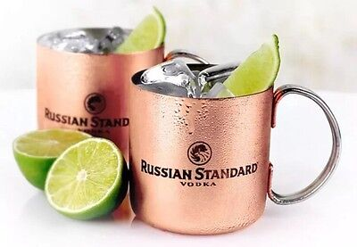 New And In Box Russian Standard Vodka Copper Mug 13oz Collectable