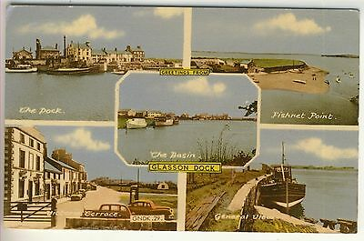 A Frith's Multiview Post Card of Glasson Dock. Lancashire