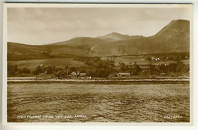 A 1934 Valentine's Real Photo Post Card of High Corrie From The Sea, Arran.