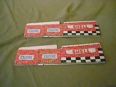 Scalextric Classic Track Accessories Pair Vintage Cardboard Bridge Supports