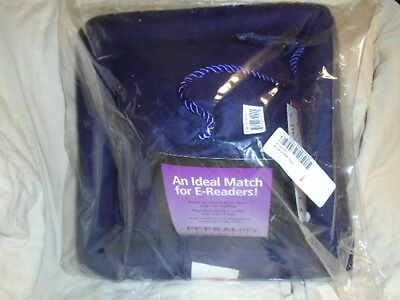 Peeramid Book Rest Purple Pillow with Bookmarker & Pockets E-Books NEW