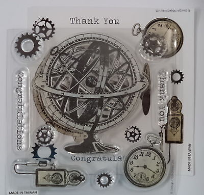 CHRONOLOGY   clear stamp  card making scrapbooking *SPECIAL*