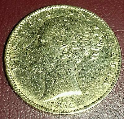 Extremely Rare Queen Victoria 1862 Roman I Full gold sovereign