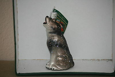 Howling Wolf Old World Christmas  glass ornament