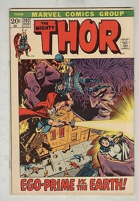 Thor #202 August 1972 VG Ego- Prime