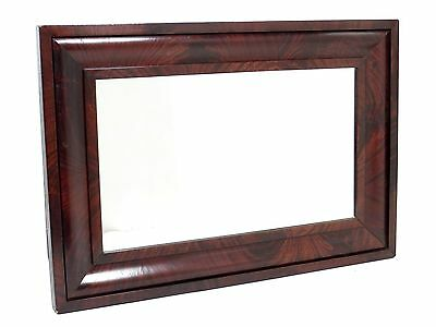 Antique Large OGEE Wooden Frame w/ Mirror