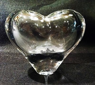 ROSENTHAL Germany Clear Blown Art Glass Vase Signed