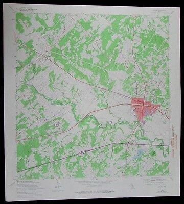 Luling Texas San Marcos River Guadeloupe Co vintage 1975 USGS Topo chart