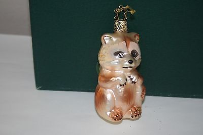 Raccoon glass ornament   Inge Glas made in Germany