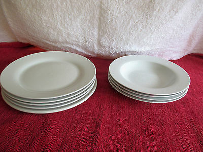9 PC White Dinner Plates & Large Bowls 1 Is Ridgeway Potteries Hotel Ware