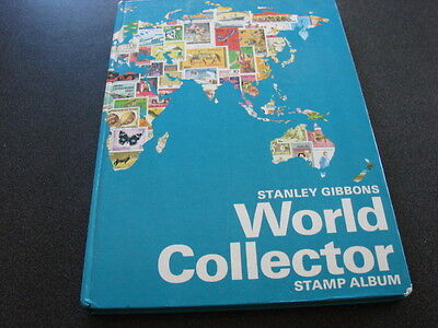 Stanley Gibbons World Collector Stamp Album with collection