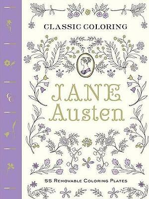 NEW Classic Coloring : Jane Austen By Abrams Noterie Paperback Free Shipping