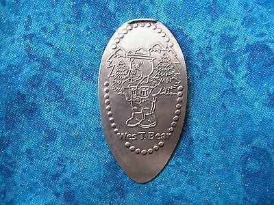 WES T BEAR COPPER Elongated Penny Pressed Smashed 4K