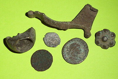 COLLECTION Ancient ROMAN MEDIEVAL ARTIFACTS coin jewelry old antique lot silver
