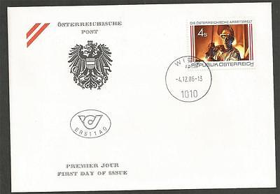 AUSTRIA -  1986 Austrian Working Environment   - F.D.COVER.