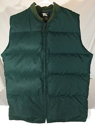 Vintage 70's MPC Mountain Products Corp. Down Ski Vest Men's M Dark Green Olive