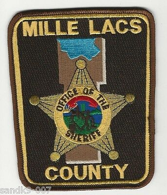NEW Millie Lacs County Sheriff State of MINNESOTA MN Shoulder Patch