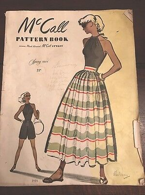 1940s Vintage McCall Pattern Book Spring 1946 Dress Pattern Catalog 80+ Pages
