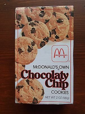 Vintage McDonald's Own Chocolaty Chip Cookies Full Box Unopened