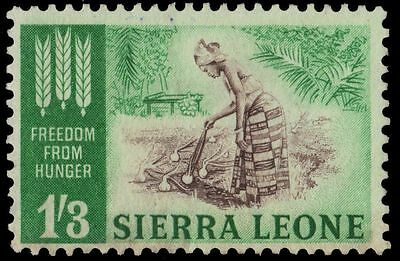 SIERRA LEONE 241 (SG256) - Freedom from Hunger Campaign (pa13387)