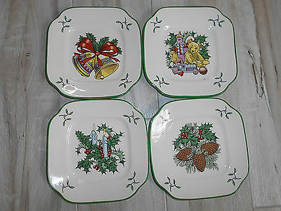 Spode World Of Christmas Decorating The Tree Set Of 4 Plates
