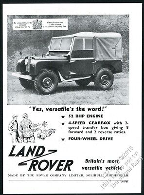 1953 Land-Rover SUV photo vintage print ad