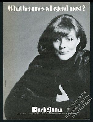 1980 Maggie Smith photo Blackglama fashion vintage print ad