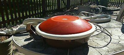 Vintage Retro Atomic HOOVER Flying Saucer Canister  Vacuum S3121