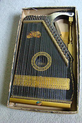 Antique Mandolin Guitar Harp - The Home Education Co, Concord, NC w/ books