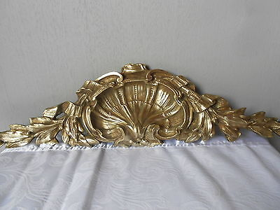 Antique French Bronze Architectural PLAQUE PEDIMENT LOUIS XV style