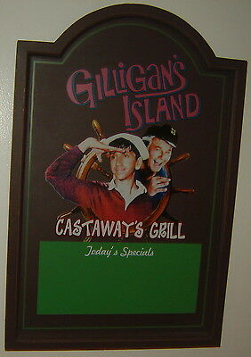 Gilligan's Island Castaway's Grill Today's Specials Tv Show Wood Hanging Sign