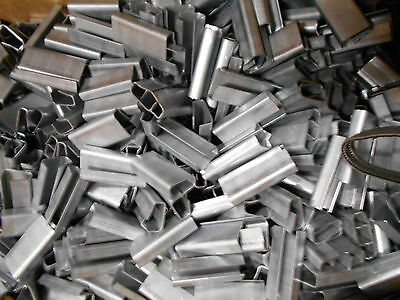 """Lot / Box Of 1000 1/2"""" Open Poly Strapping Banding Clip Clamp Seals"""